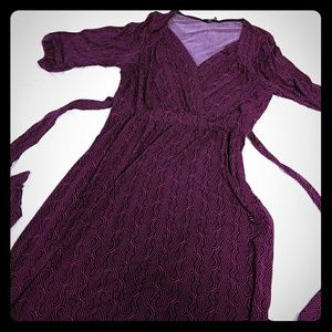 Purple dress - size Large 12/14.